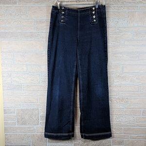 b7023a14e004 Cos Jeans Wide Leg Palazzo Sailor Front High Waist
